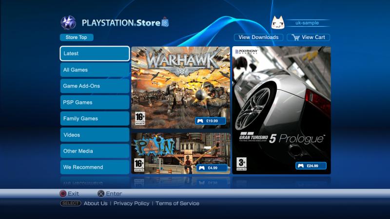 Когда-то PS Store выглядел вот так (Источник — softpedia.com)