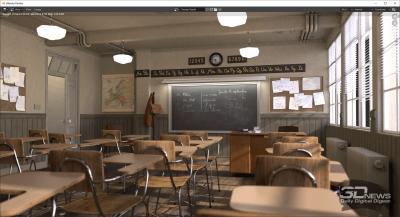 Тест Blender 2.90 classroom (электросеть)