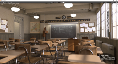 Тест Blender 2.90 classroom (аккумулятор)