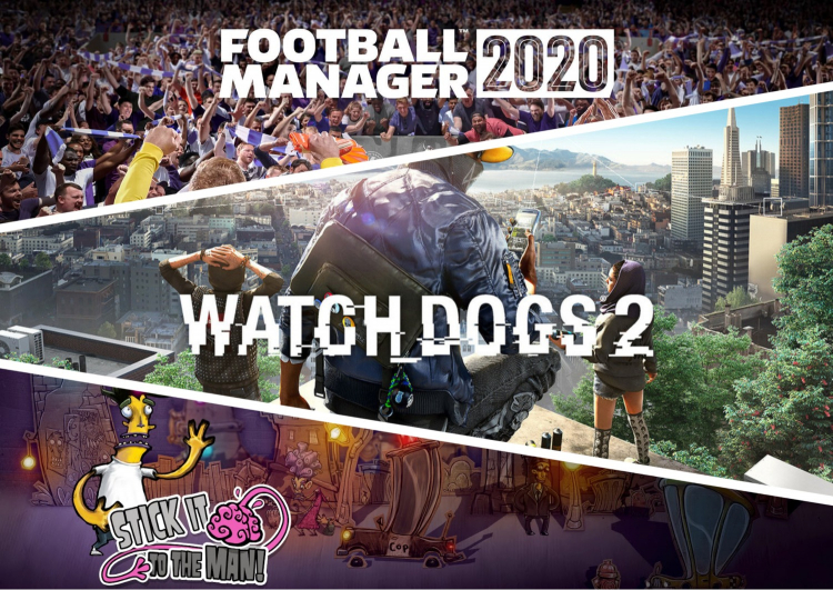Watch Dogs 2+Football Manager 2020+bonus (EGS account)