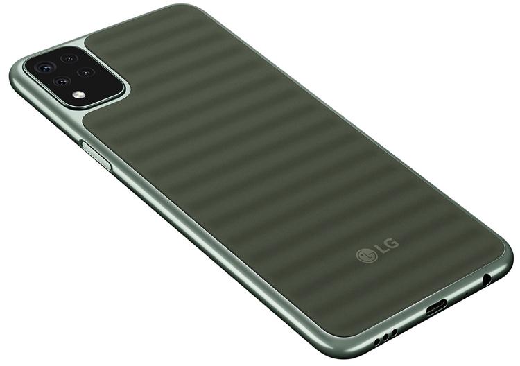 Смартфон LG K42 выделяется необычным исполнением задней панели
