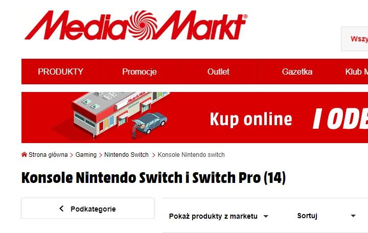 Ещё одна консоль нового поколения: польский ритейлер уже готовится к выходу Nintendo Switch Pro