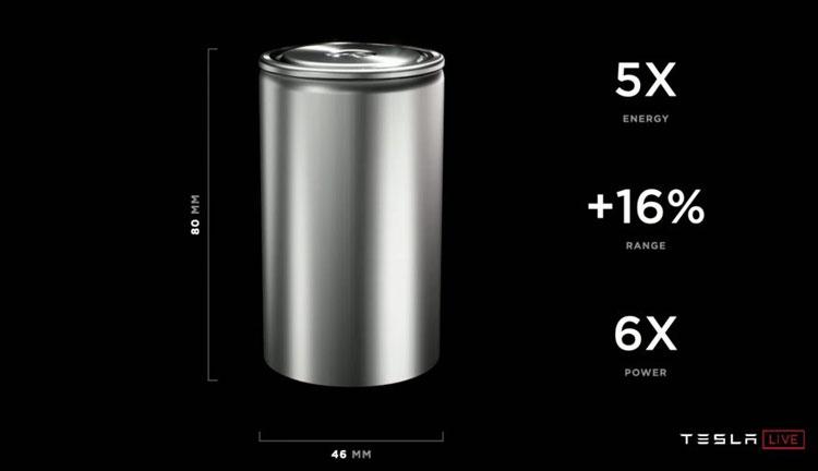 Аккумулятиорная ячейка Tesla 4680 (Tesla)