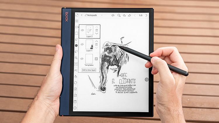 Ридер Onyx Boox Note Air с 10-дюймовым экраном E Ink HD Carta позволяет создавать рисунки и заметки