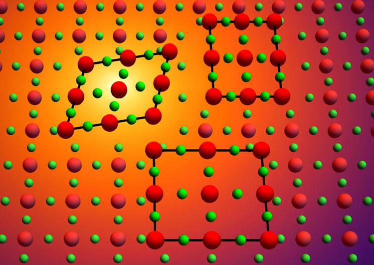 Один и тот же материал демоснтрирует разное строение в одних и тех же условиях