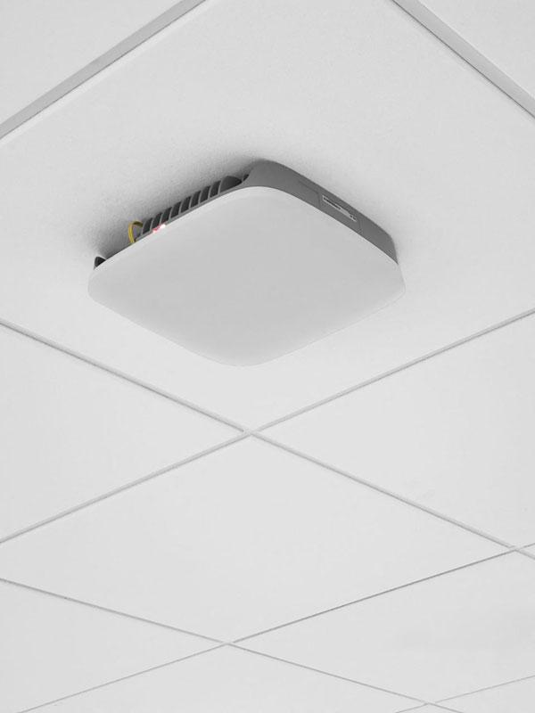 Размещение микросоты Samsung на потолке офиса
