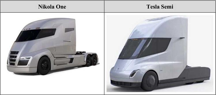 Производители электрических грузовиков Tesla и Nikola выясняют в суде, кто у кого украл идеи дизайна