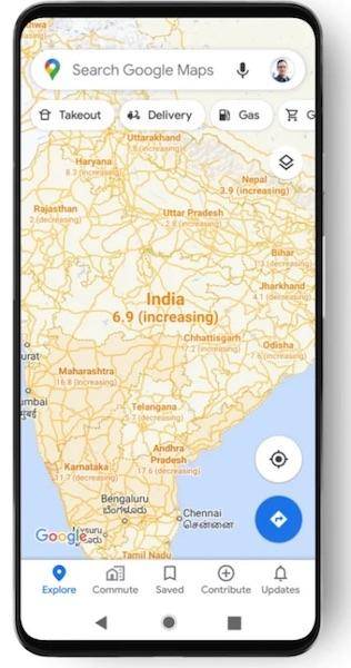 В Картах Google появился новый слой для отображения данных о заболеваемости COVID-19