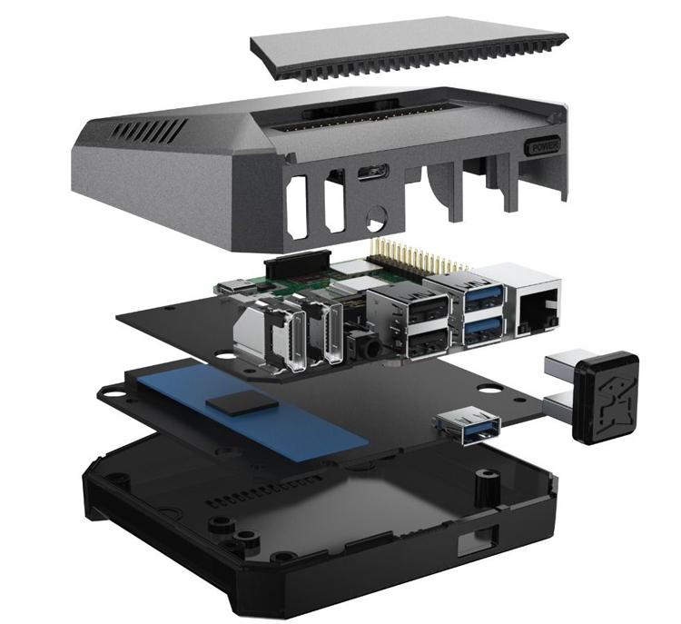 "Корпус Argon One M.2 превратит Raspberry Pi 4 в неттоп с SSD-накопителем М.2"""
