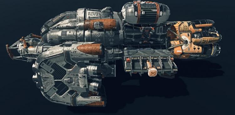 Изображение космического корабля из Starfield, также опубликованное Electrical-Ad-8659