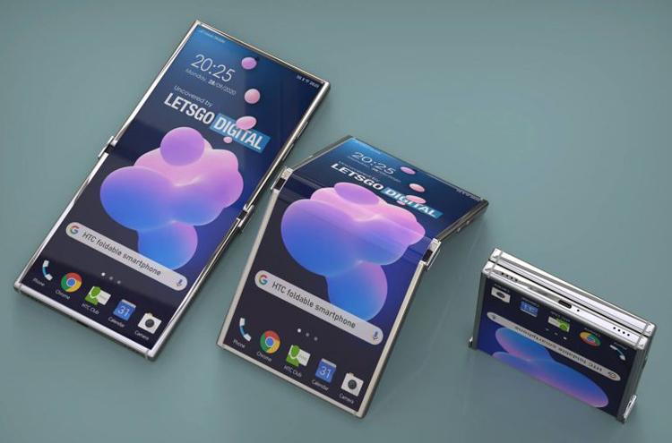 HTC придумала смартфон-раскладушку наоборот: его гибкий дисплей складывается наружу