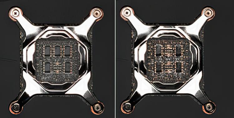 MSI GeForce RTX 3080 GAMING X TRIO в изначальном исполнении (слева) и в текущем (справа)