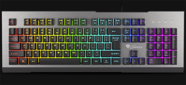 Клавиатура Genesis Rhod 500 RGB в алюминиевом корпусе снабжена 7-зонной подсветкой