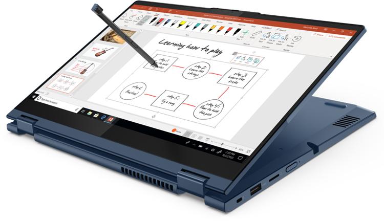 Ноутбук-трансформер Lenovo ThinkBook 14s Yoga с чипом Intel Tiger Lake поддерживает перьевой ввод