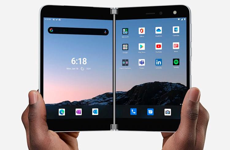 Корпус смартфона-книжки Microsoft Surface Duo трескается при обычном использовании