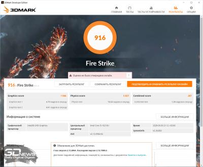 Тест 3DMark Fire Strike