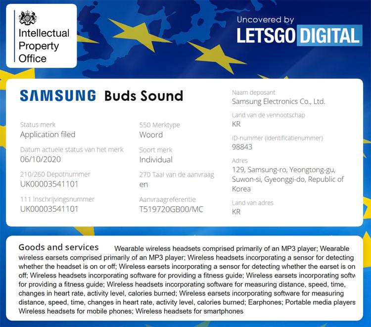 Новые беспроводные наушники Samsung получат имя Galaxy Buds Sound