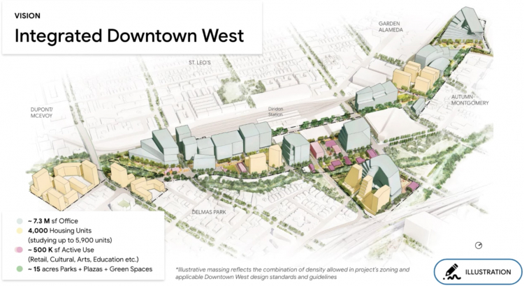 Google показала, что её огромный кампус в Сан-Хосе будет похожим на жилой район