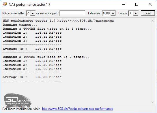 Производительность Synology DS220+ с дисками в массиве RAID0