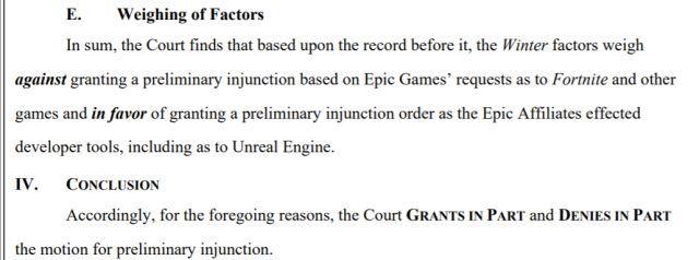 Воз и ныне там: судья не позволила Apple заблокировать Unreal Engine, но и не обязала её разблокировать Fortnite