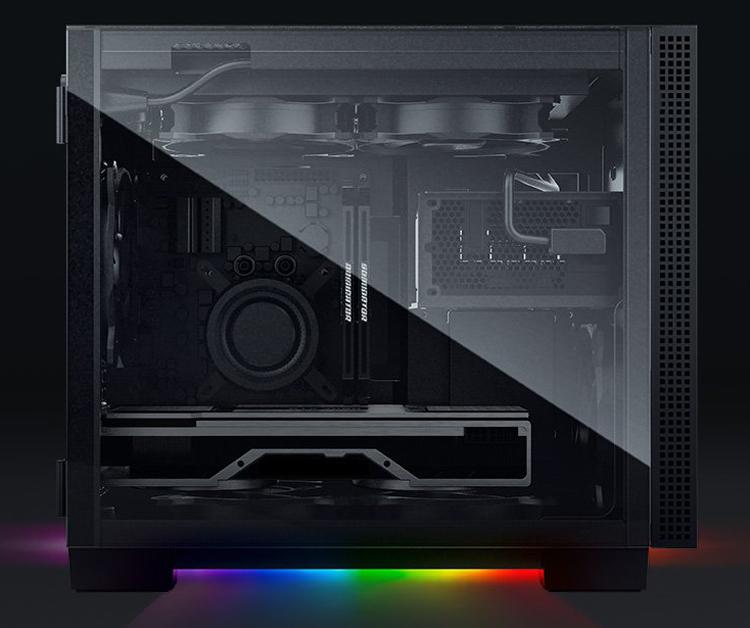 Корпуса Razer Tomahawk ATX и Mini-ITX наделены RGB-подсветкой Razer Chroma Underglow
