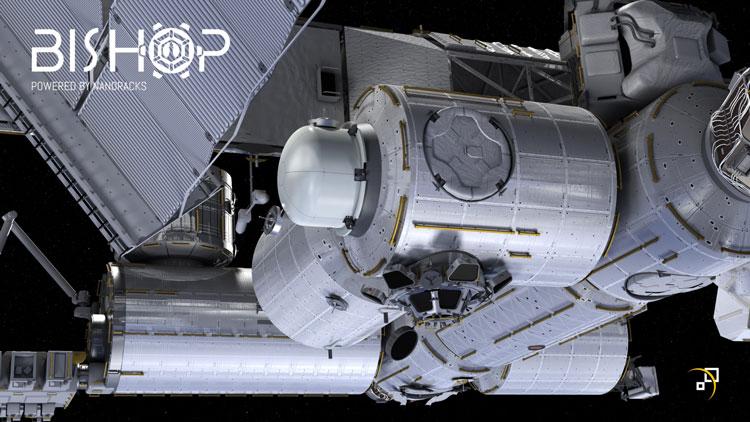 Ожидаемый вид на жилой отсек со смонтированным шлюзом (на переднем плане). Источник изображения: NanoRacks
