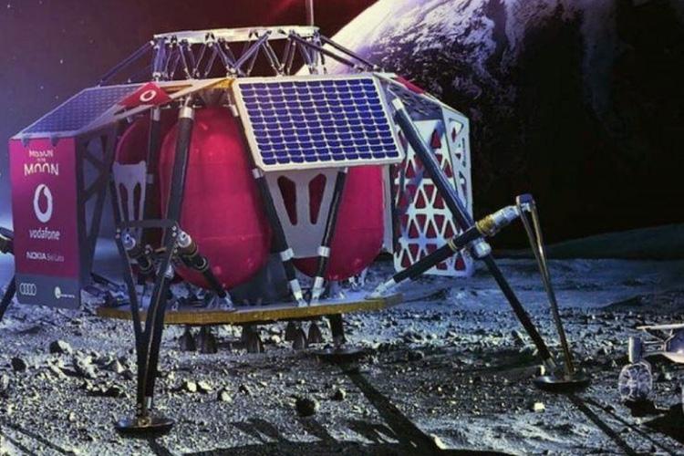Концепт лунного посадочного модуля от Vodafone и Nokia, который принесёт на Луну сотовую связь 4G и роботизированные вездеходы