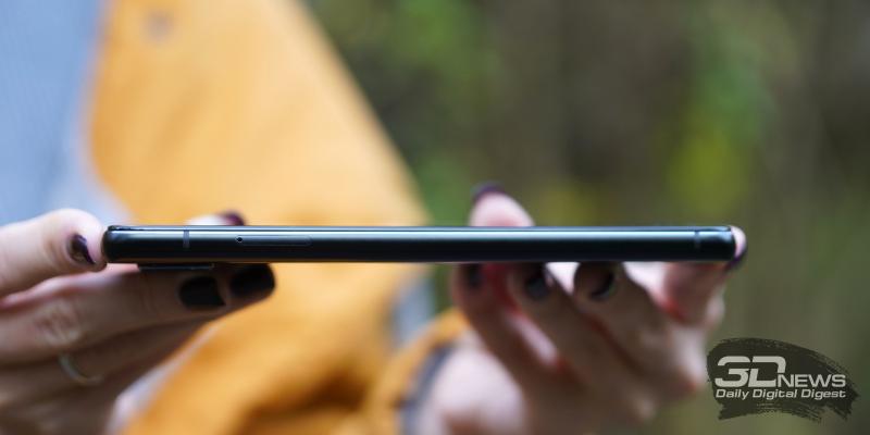 ASUS Zenfone 7 Pro, левая грань: слот для SIM-карт и карты памяти
