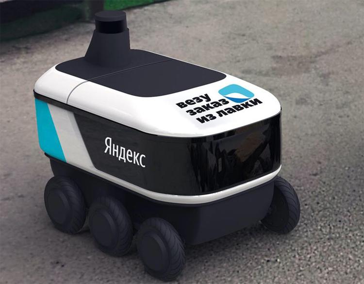 Робот «Яндекса» начнёт доставлять москвичам продукты из «Лавки»