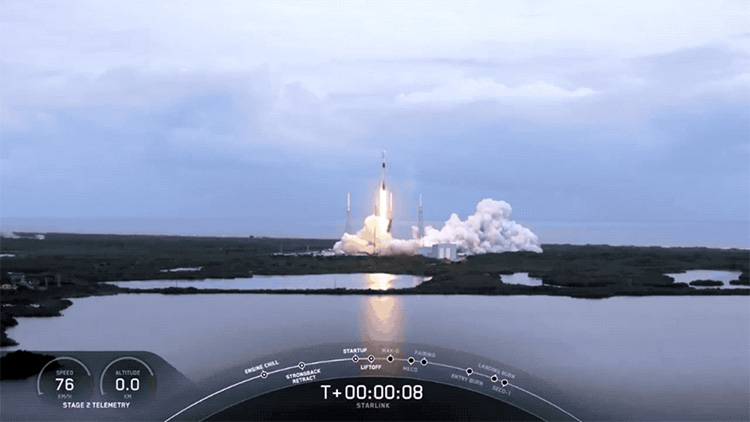 Полтора десятка миссий Starlink позади: SpaceX запустила ещё 60 спутников
