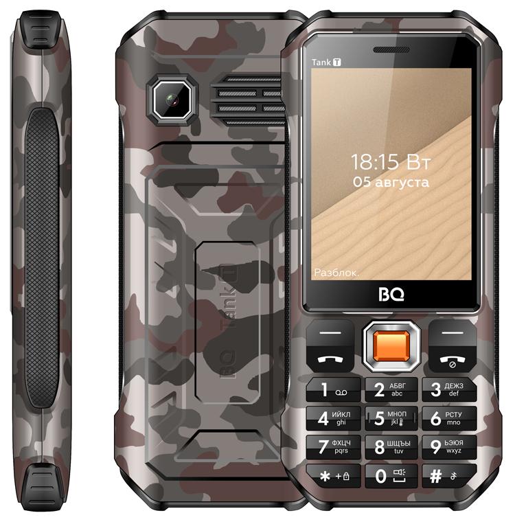Кнопочный телефон BQ 2824 Tank T оснащён термометром и фонариком