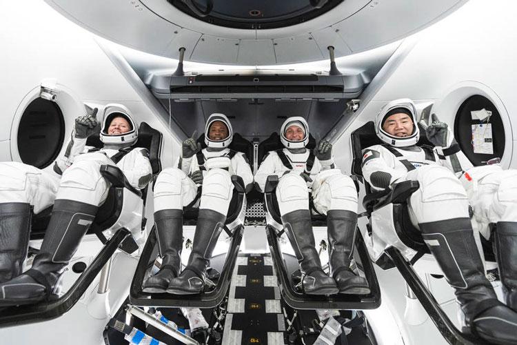 Экипаж миссии Crew-1: Источник изображения: SpaceX