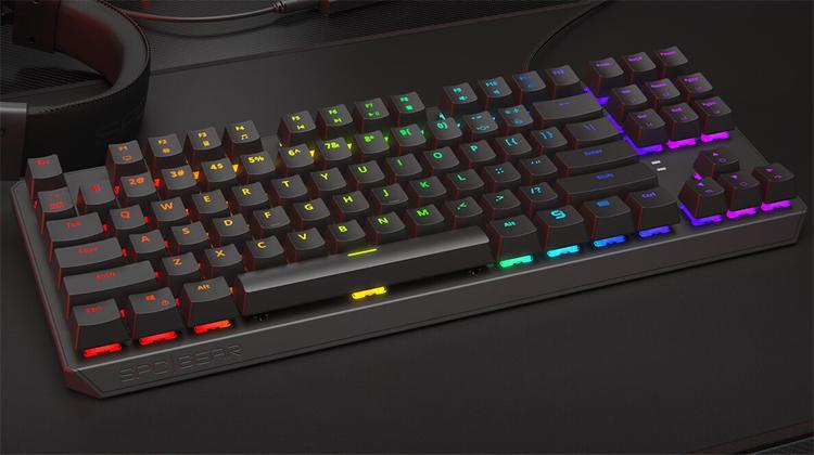 """Компактная механическая клавиатура SPC Gear GK630K снабжена RGB-подсветкой с 18 эффектами"""""""