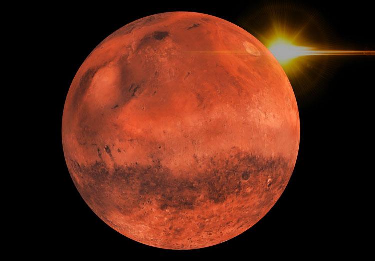 Анализ марсианского метеорита показал, что вода на древнем Марсе появилась неожиданно рано