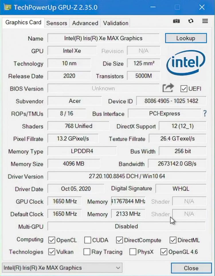 Появились первые тесты дискретной графики Intel Iris Xe MAX: чуда не случилось