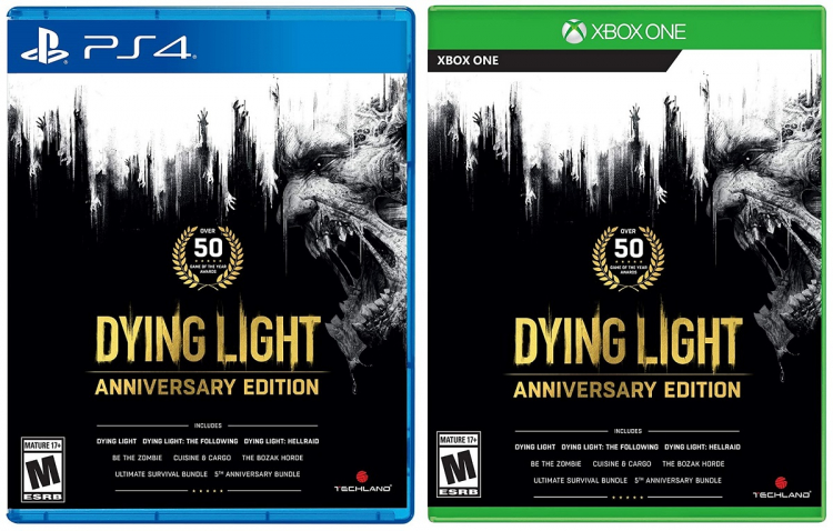 Обложки Dying Light Anniversary Edition для PS4 и Xbox One