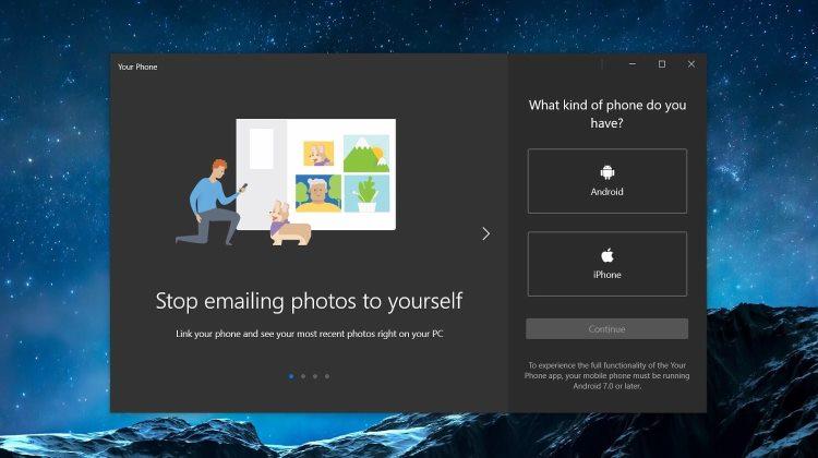 """В Windows 10 можно будет управлять фотографиями на синхронизированных смартфонах через приложение«Ваш телефон»"""""""