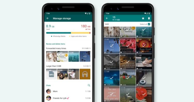 Новая функция WhatsApp делает проще удаление ненужных файлов