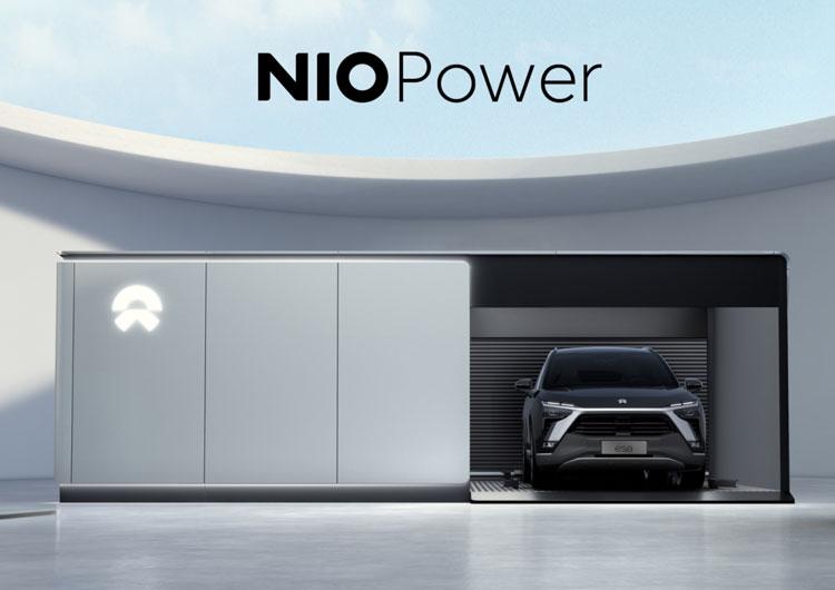 Станция NIO по автоматической замене тягового аккумулятора в электромобиле за три минуты
