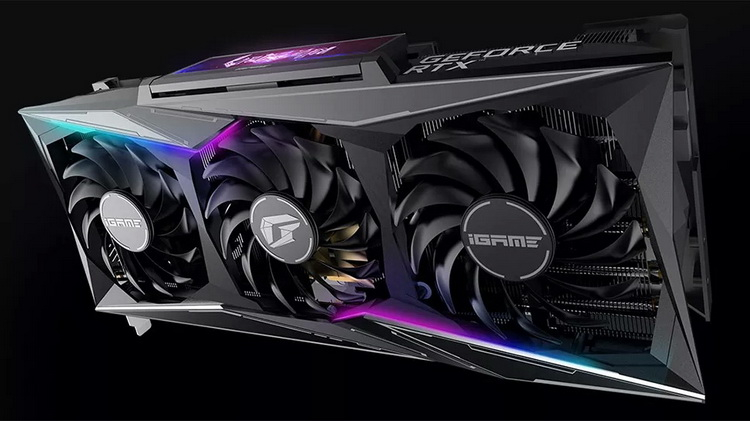 "Colorful представила огромную видеокарту iGame GeForce RTX 3080 Vulcan OC с поворотным ЖК-дисплеем"""