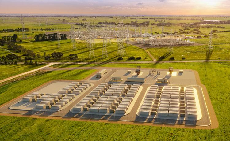 Проект 300-МВт буферной батареи Tesla в штате Виктория, Австралия. Источник изображения: Neoen
