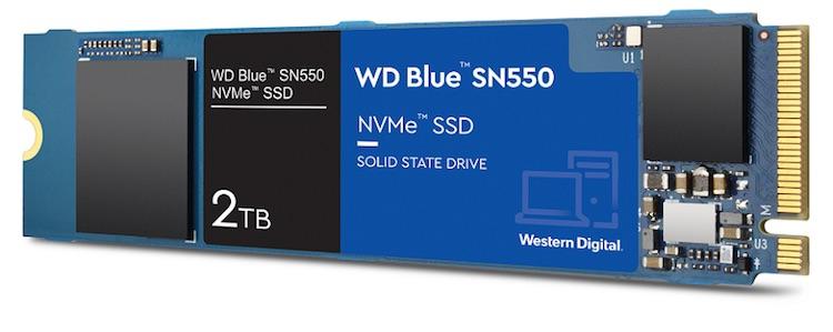 """Представлен доступный твердотельный NVMe-накопитель WD Blue SN550 ёмкостью 2 Тбайт"""""""