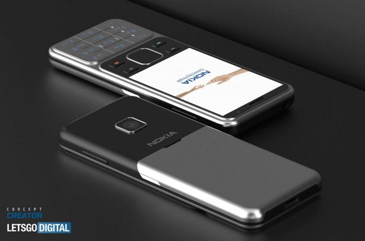 Телефон Nokia 6300 4G в современном представлении красуется на рендерах