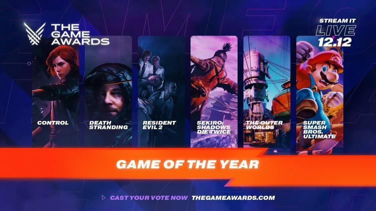 Номинанты на звание лучшей игры года по версии The Game Awards 2019