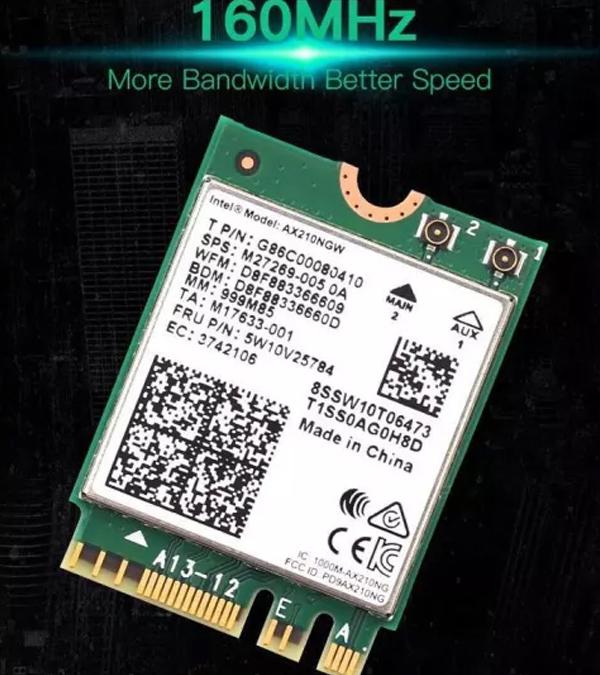 """Карта Intel Wi-Fi 6E AX210 обеспечивает поддержку трёх частотных диапазонов"""""""