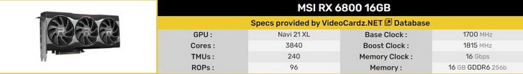 """ASUS и MSI представили эталонные видеокарты Radeon RX 6800 XT и RX 6800"""""""