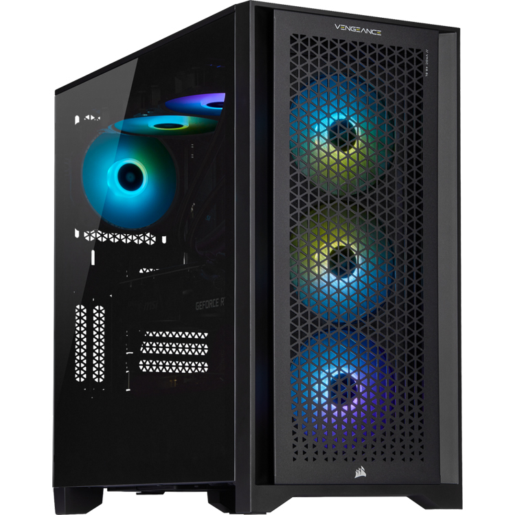 Corsair Vengeance A7200 gaming desktop is equipped with AMD Ryzen 9 5900X 12-core processor.