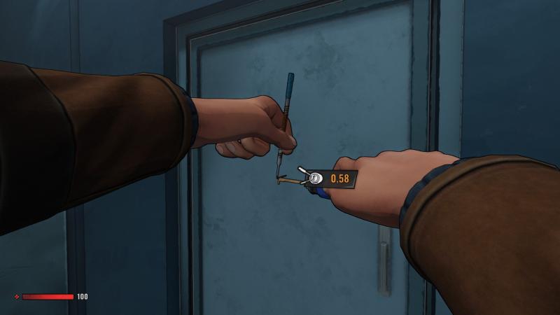 Уникальная дверь, открываемая ковырянием отмычкой не в замке, а в самой двери…