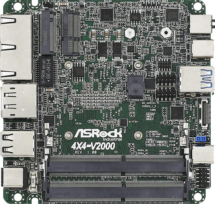 """ASRock представила компактные платы со встроенными процессорами AMD Ryzen V2000 на базе Zen 2"""""""