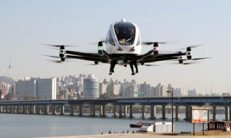 В Южной Корее успешно прошли испытания беспилотного воздушного такси в городских условиях